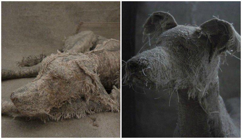 Художница мастерит трогательные скульптуры собак из старых тряпок (18фото)