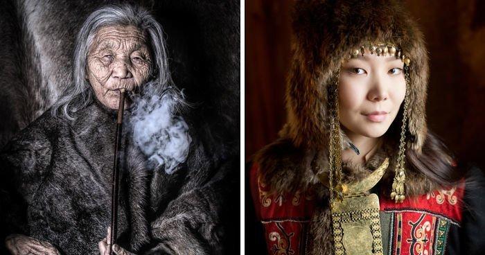 30 портретов коренных жителей Сибири и Монголии (31фото)