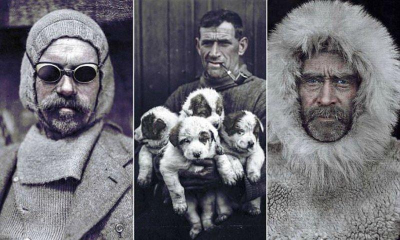 Колоризованные фото известных полярных исследователей 19-20 веков (12фото)