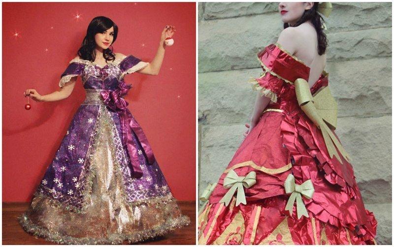 Талантливый дизайнер создаёт сказочные платья из упаковочной бумаги (14фото)