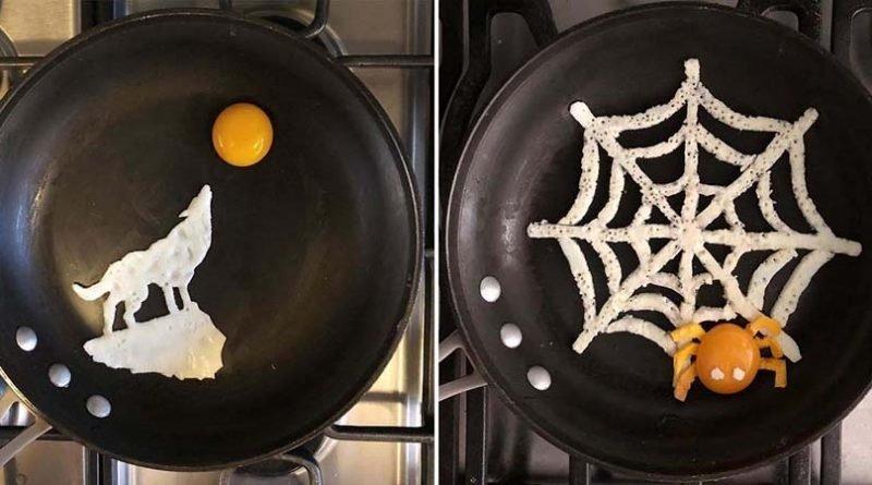 Мексиканка создаёт прямо на сковороде удивительные по своей красоте яичные завтраки (40фото)