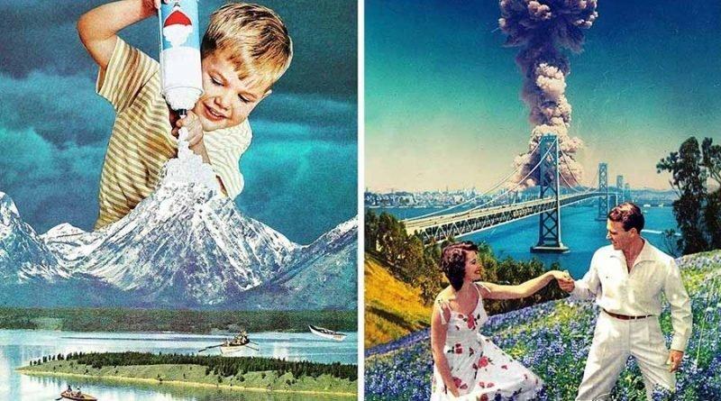 Сюрреалистические коллажи из журнальных вырезок от художницы Евгении Лоли (21фото)