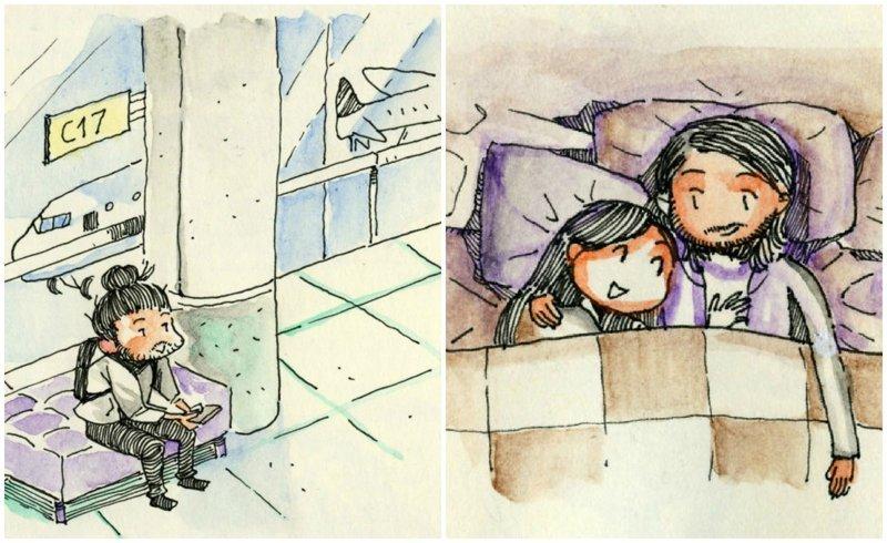 Итальянец прилетел в Торонто на первое свидание, и нарисовал об этом крутой комикс (32фото)