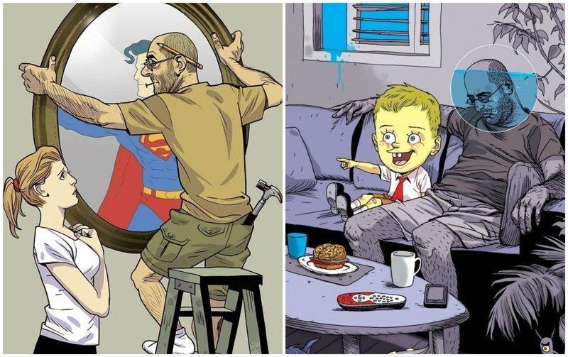 Сатирические иллюстрации Асафа Хануки, которые заставляют задуматься (42фото)