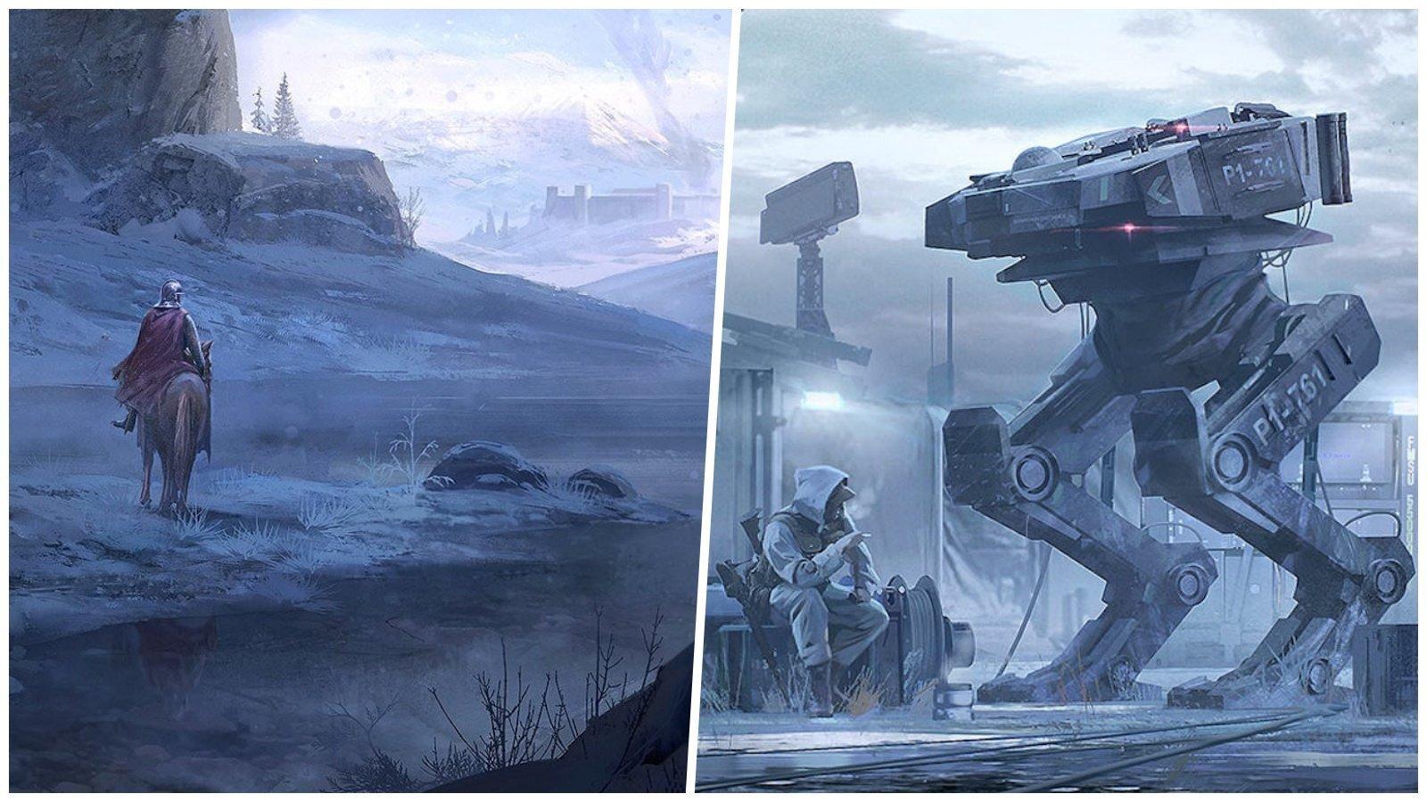 Миры прошлого и будущего в картинах главного художника Ubisoft (21фото)