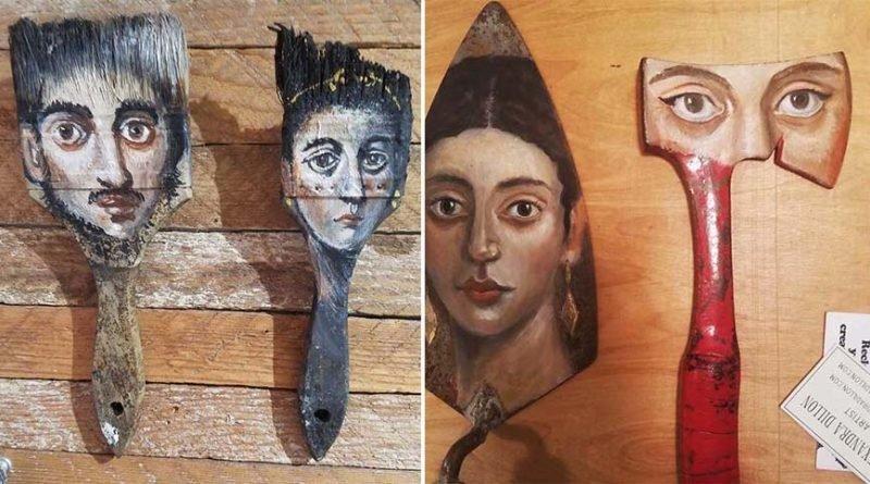 Художница находит старые вещи и превращает их в удивительное искусство (32фото)