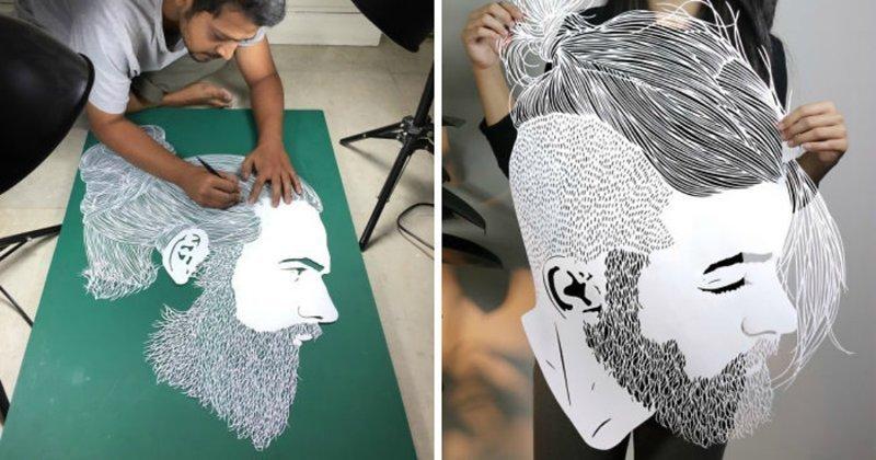 Изящные творения Парта Котекара, вырезанные из бумаги (18фото)