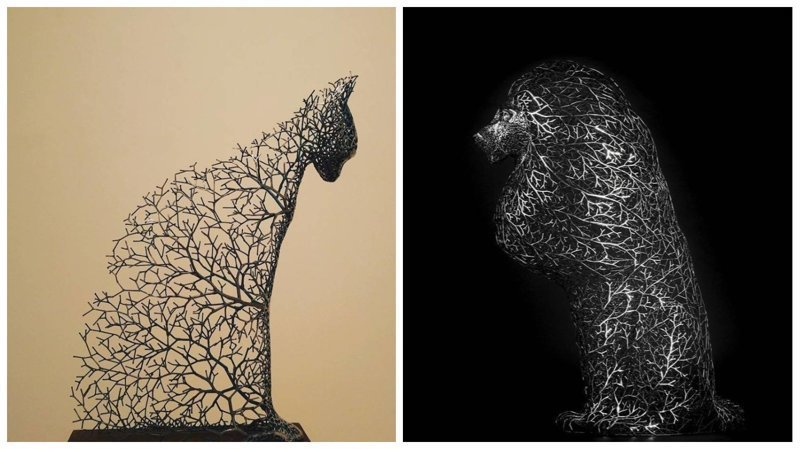 Фантастические скульптуры животных от Кан Дон Хёна (11фото)