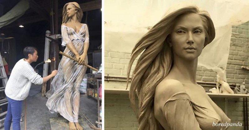 Кажется, что это скульптура времен Возрождения, но посмотрите поближе (19фото)