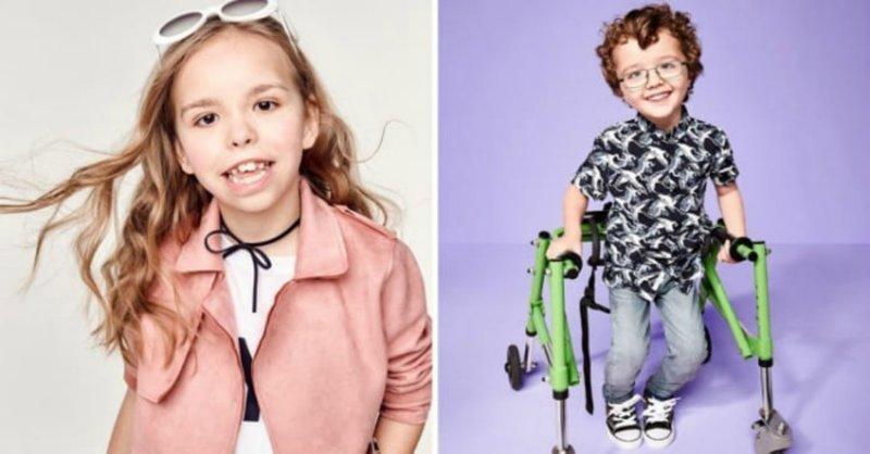 Дети с синдромом Дауна и с ДЦП снялись в рекламе одежды River Island (6фото)