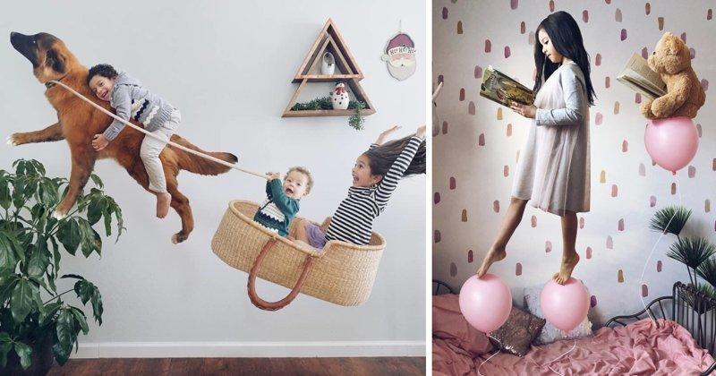 Мама с помощью фотошопа превращает жизнь своих детей в сказку (57фото)