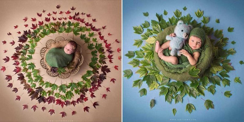 Она фотографирует младенцев в центре мандалы, переосмысливая сакральное изображение (11фото)