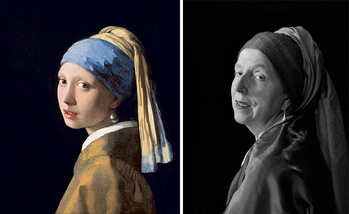 Удивительное воссоздание знаменитых картин в исполнении 66-летней женщины (13фото)