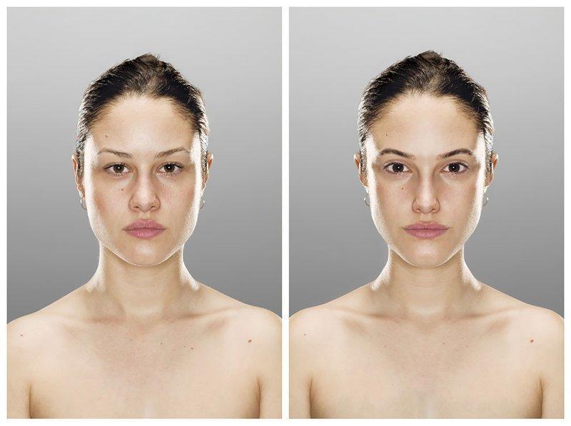 Фотограф доказал, что мы видим себя в зеркале красивее, чем есть на самом деле (13фото+1видео)