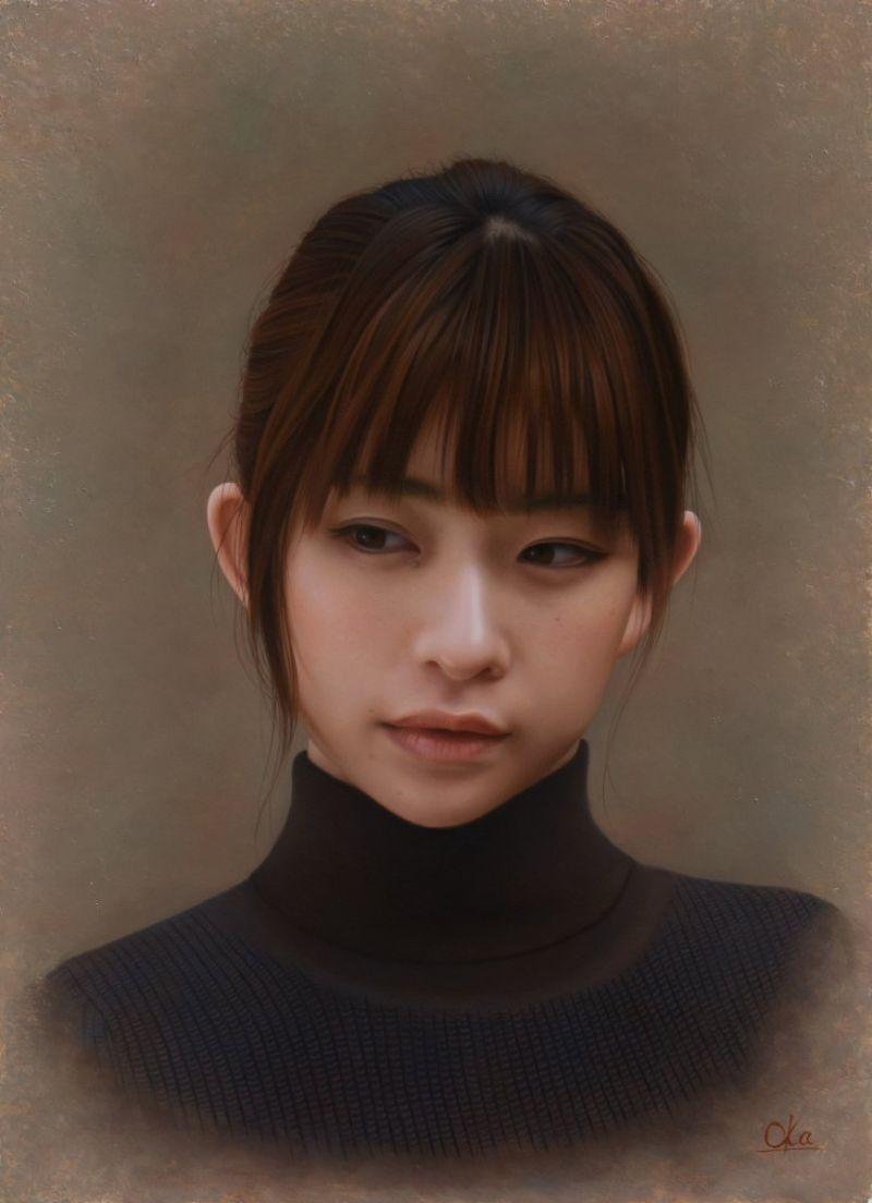 Реалистичные портреты девушек - не фото и не компьютерная графика (16 фото)