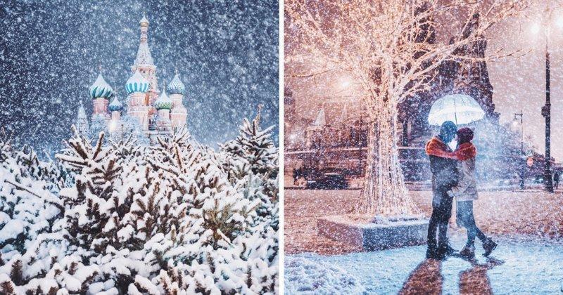 Белоснежная сказка: заснеженная Москва в фотографиях Кристины Макеевой (24фото)