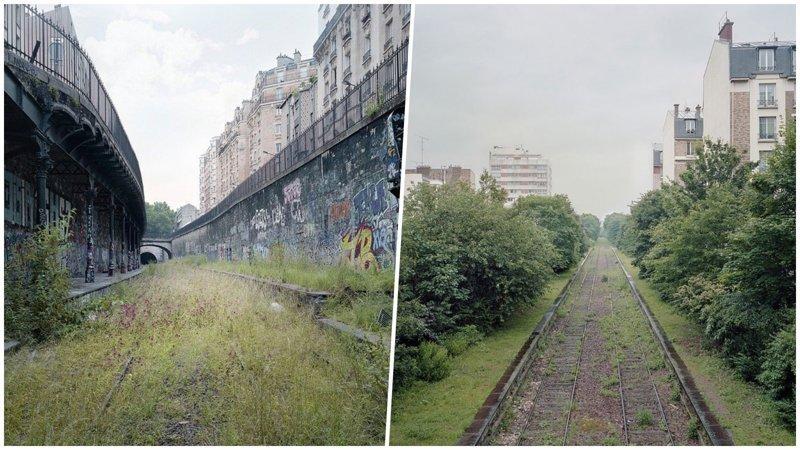 Заброшенная железная дорога Парижа на снимках Пьера Фолька (30фото)