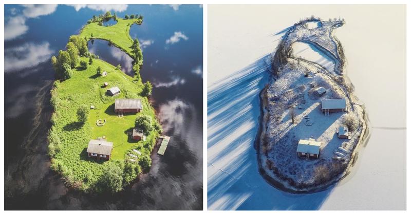 Времена года на острове Котисаари (5фото)