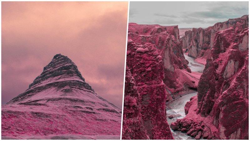 Самые обычные пейзажи, снятые через инфракрасный фильтр, становятся инопланетными (21фото)