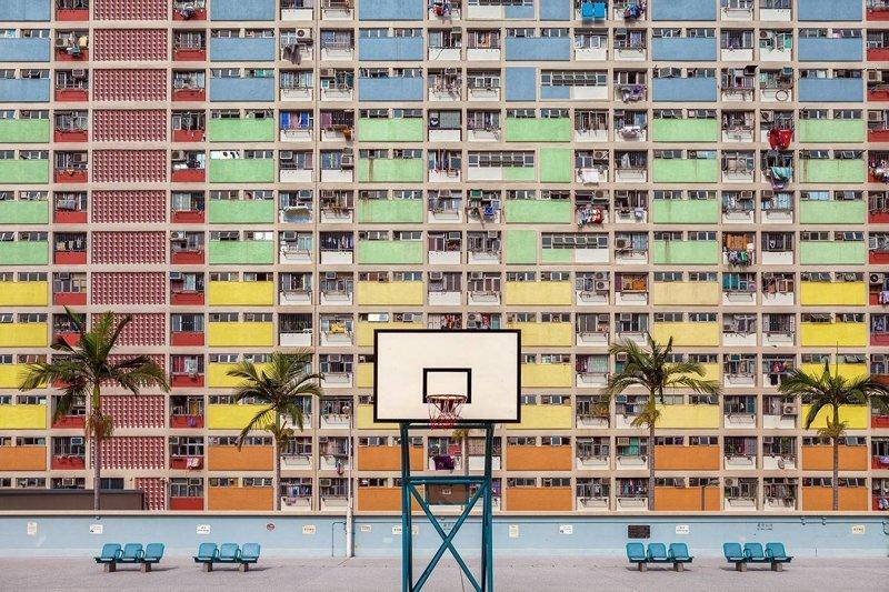 Геометрические узоры городских зданий (20фото)