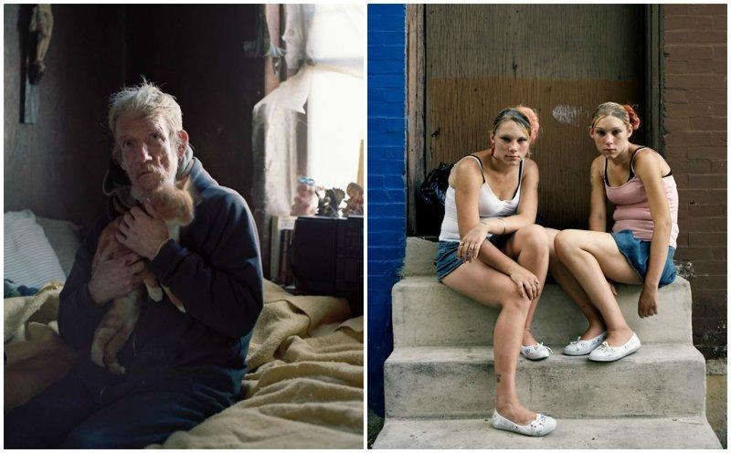 Эпицентр эпидемии наркомании в США: жуткие фото жителей Кенсингтон Авеню (40фото)