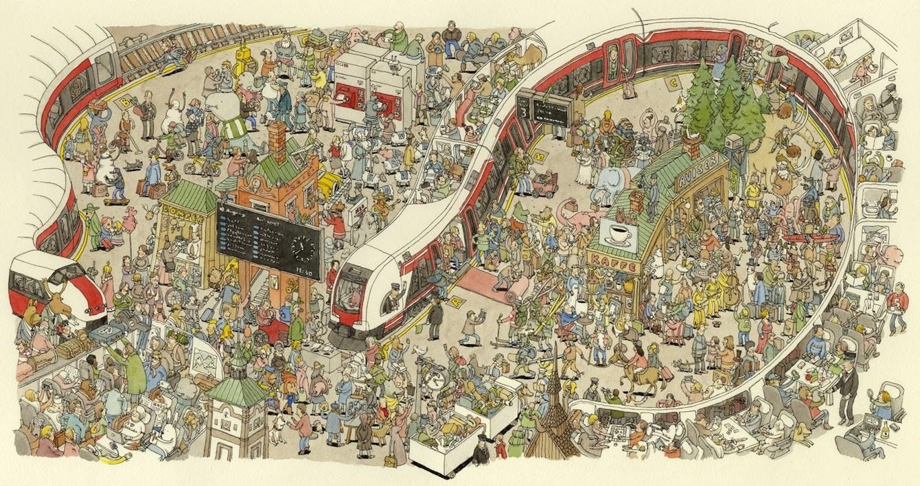 Вооружитесь лупой: Предельная детализация в иллюстрациях Маттиаса Адольфссона (27фото)