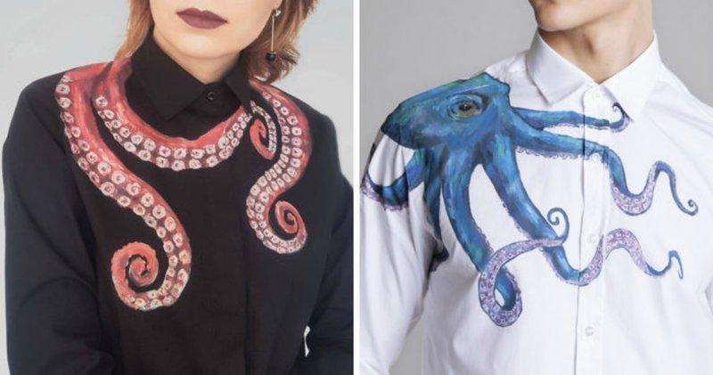 Искусство, которое можно носить: художница рисует красоту на рубашках (23фото)