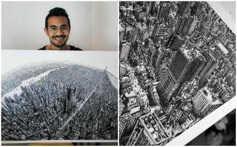 Египетский студент за 10 месяцев нарисовал Нью-Йорк в мельчайших деталях (10фото)