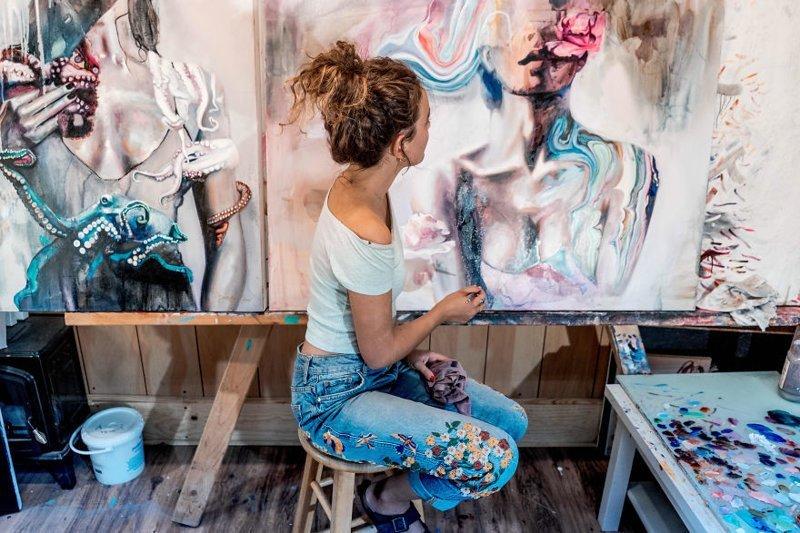 18-летняя Димитра Милан поразила мир своими картинами (13фото)