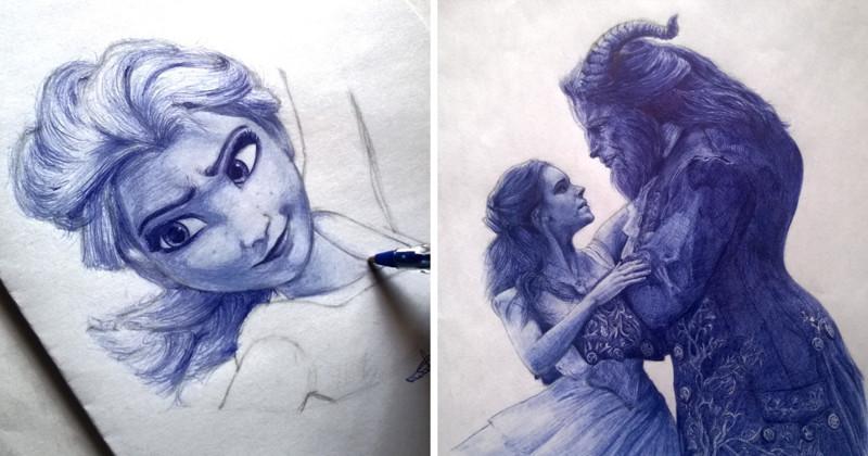 Супер-реалистичные рисунки шариковой ручкой от студента из Нигерии (18фото)