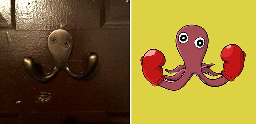 Фотограф-художник создает забавные каррикатуры из того, что видит каждый день