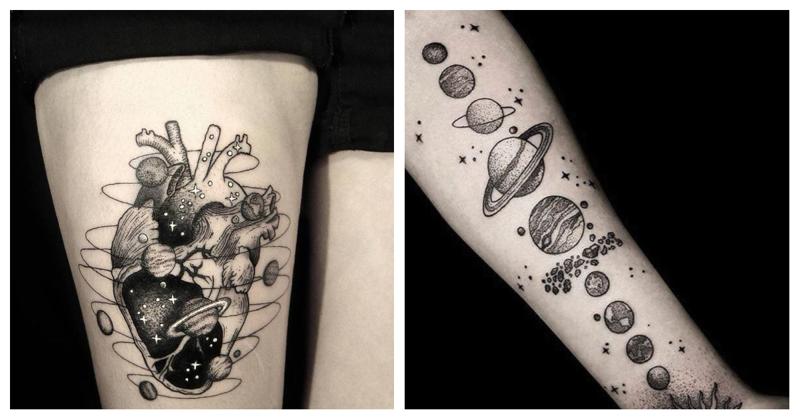 В поисках звезд: космические татуировки от Ника Сквер (25фото)