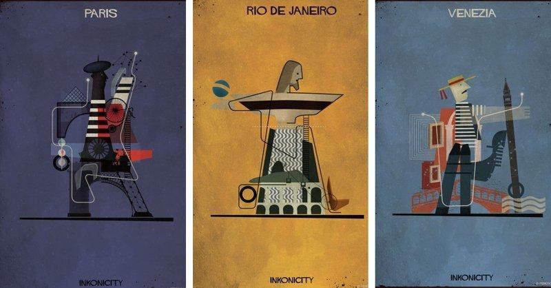 Художник-иллюстратор в своих картинах воплощает души городов (21фото+1видео)