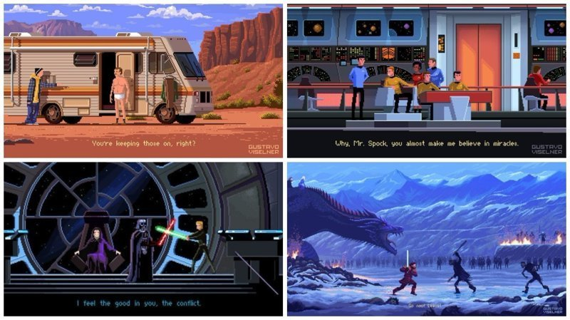 Известные киносцены в пиксельной графике (22фото)