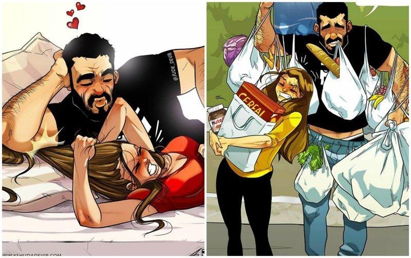 Какая она, жизнь с женой? Художник рисует чудесные комиксы о семейной жизни (16фото)