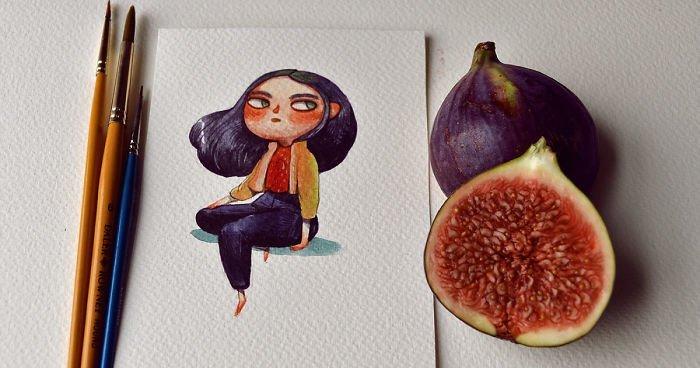 Лондонская художница представила, как выглядели бы фрукты и овощи, будь они людьми (14фото)