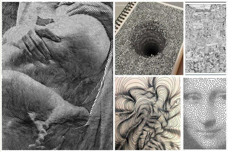 Талант и черно-белые рисунки, от которых кружится голова (30фото)