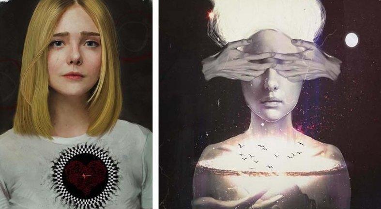 Эти интересные картины появились в следствие борьбы их создателя с депрессией (24фото)
