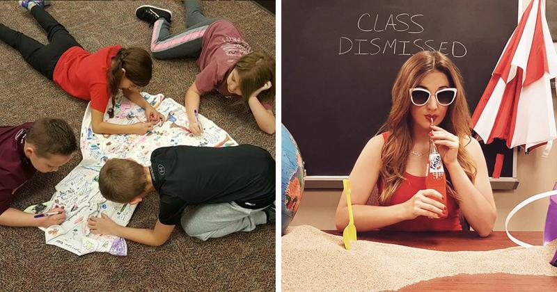 Второклассники разрисовали платье учительницы, и превратили его в шедевр! (10фото)
