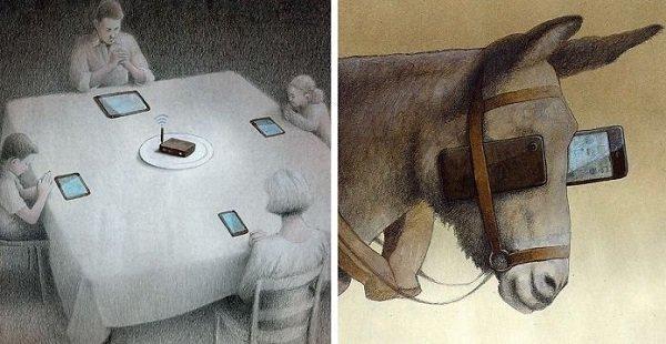 Реалистические иллюстрации Поля Кучиньски показывают, что не так с современным обществом (73фото)