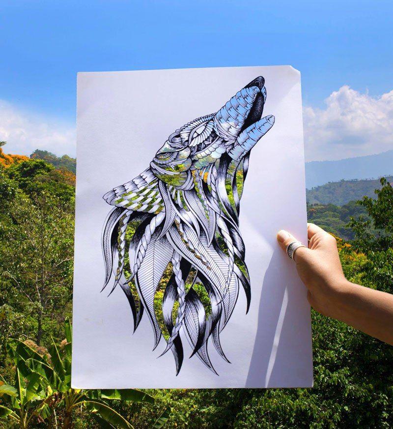 Художница создает невероятные картины, используя природу вместо красок (5 фото)