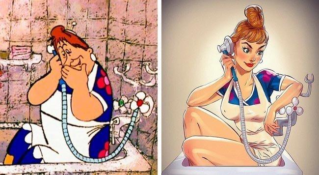 Российский художник превратил героинь мультфильмов в сексуальных красоток (15фото)