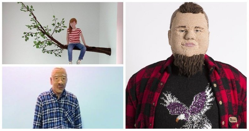 Вязаные люди от художницы из Финляндии (13фото)