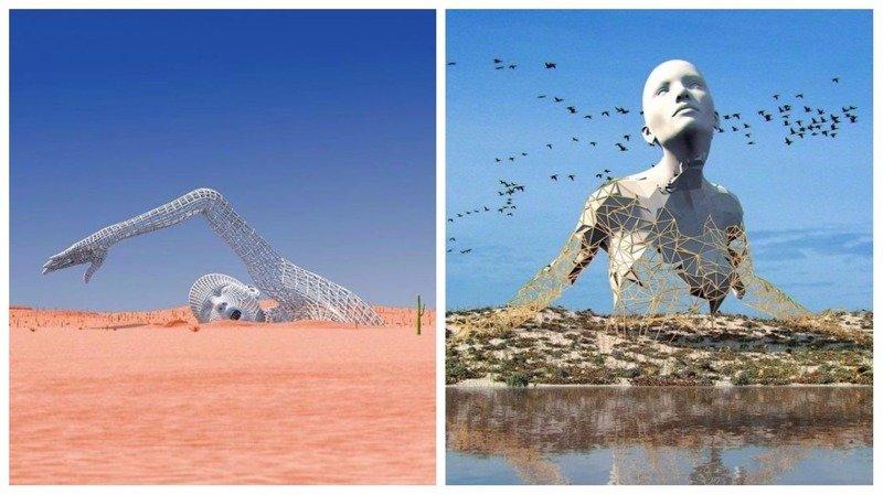 Футуристические 3D-скульптуры от Чада Найта (26фото)