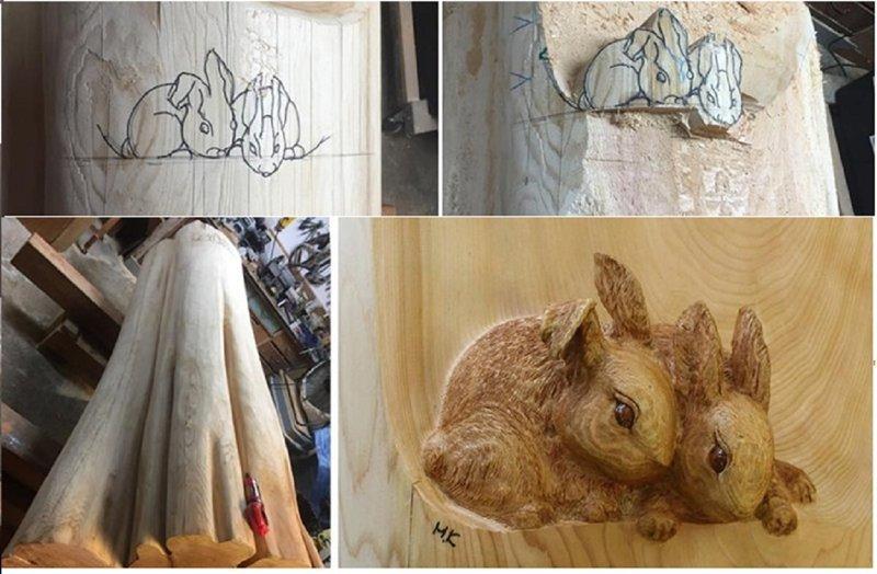 Художник делает скульптуры из поваленных деревьев (14фото)