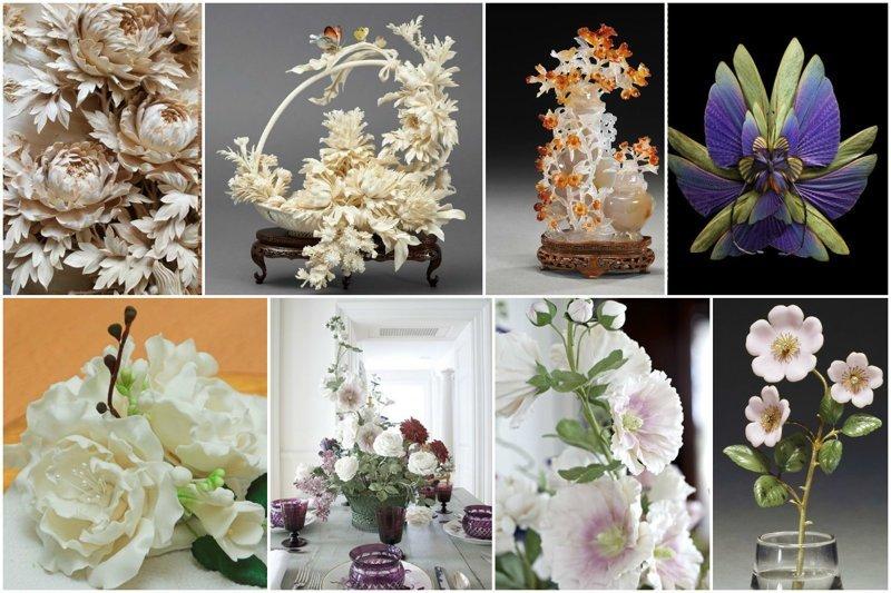 Из чего делают цветы (47фото+1видео)