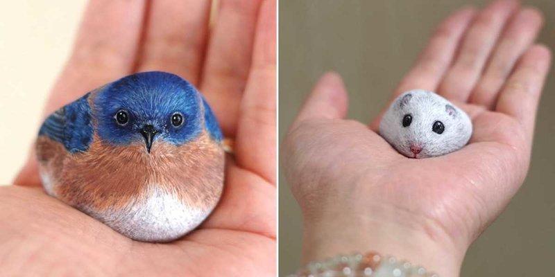 Это просто волшебство: Японка превращает камни в очаровательных животных (27фото)