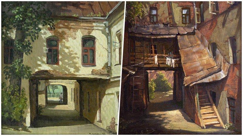 Дворики нашего детства на картинах Владимира Парошина (25фото)