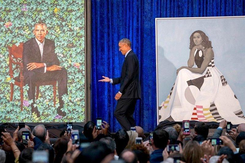 «Я просил уши поменьше, но в этом мне отказали». Первые портреты четы Обамы (9фото)