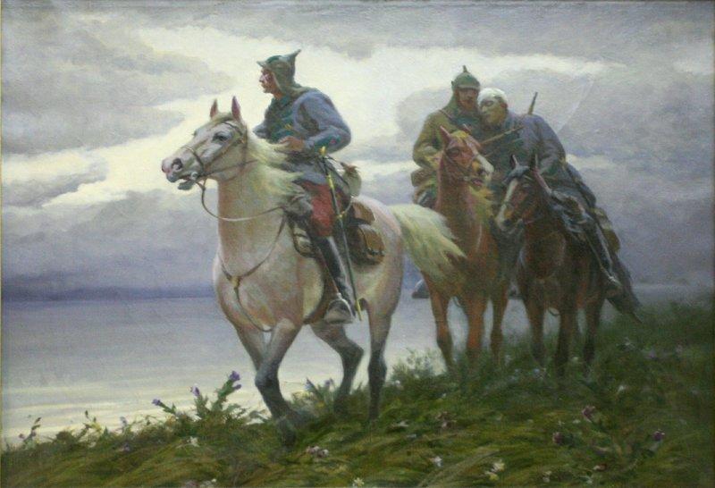 Картины художников о пограничниках из собрания Центрального Пограничного Музея ФСБ России (10фото)